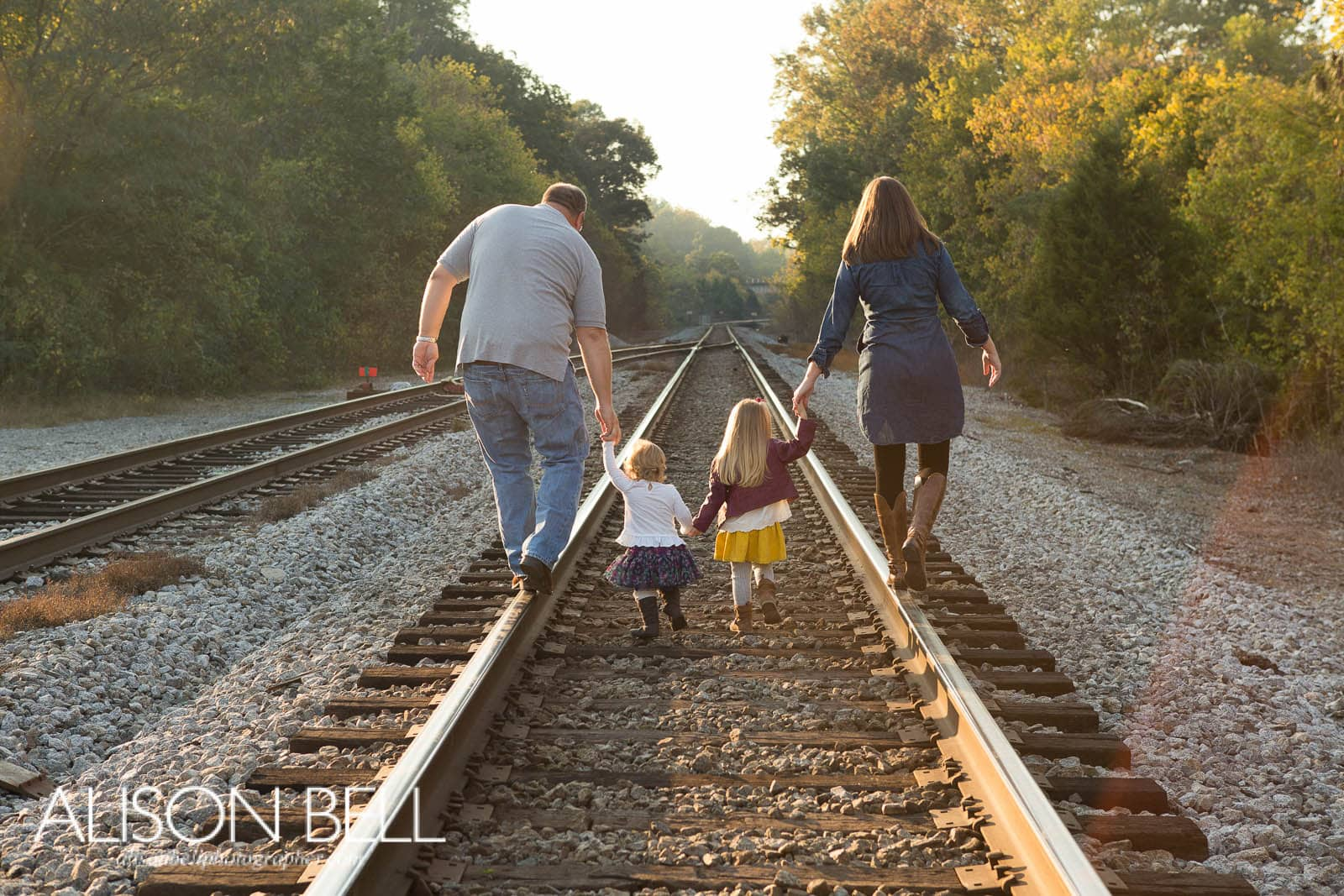 train tracks, old town helena, family, alison bell