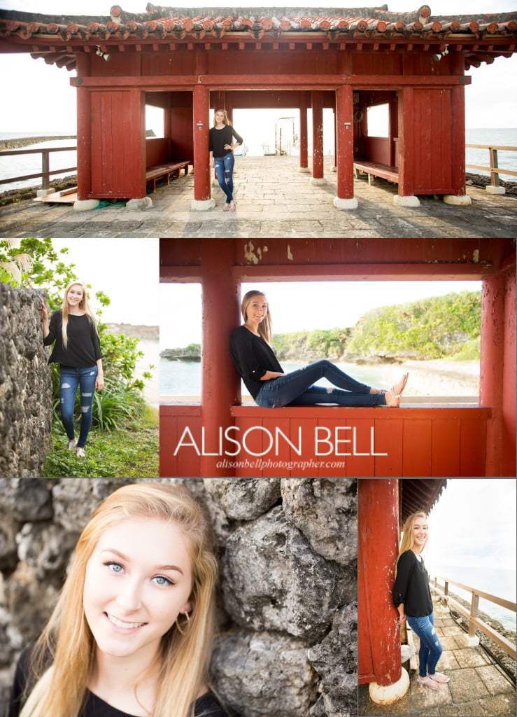Torii, yomitan, okinawa, senior, high school, family photo session
