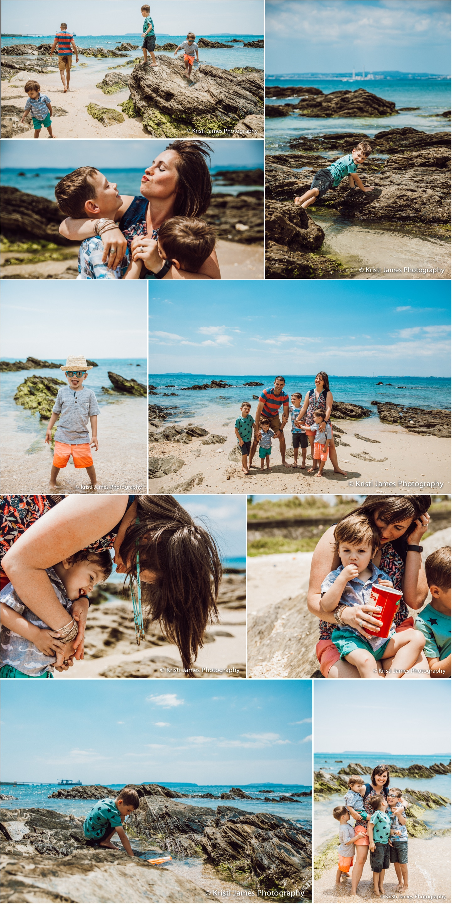 Alison Bell, Kin, beach, blue water, family, child, kid photography, kin town