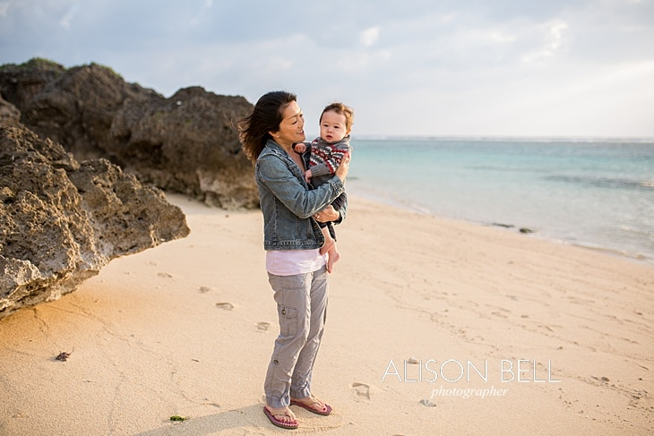 Beach, baby, family, okinawa, photographer, alison bell