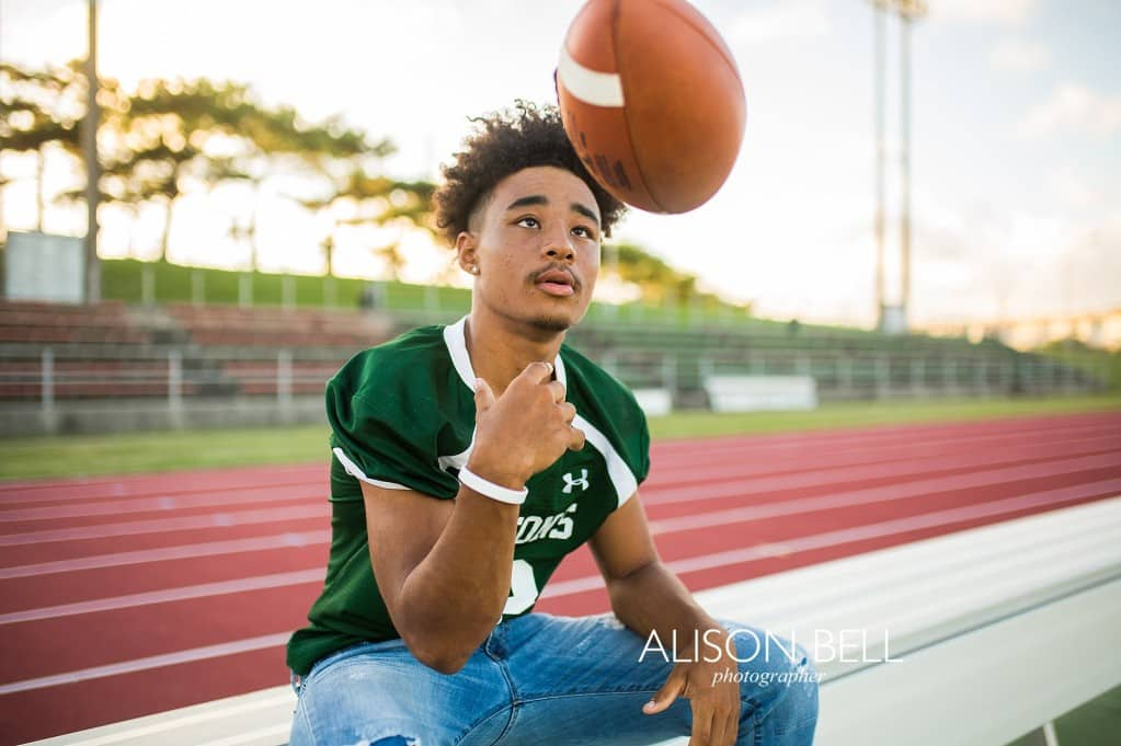 Simple Simple senior portrait for football players at Kubisaki High School in Okinawa, Japan by Alison Bell, Photographer portrait for football players at Kubisaki High School in Okinawa, Japan.