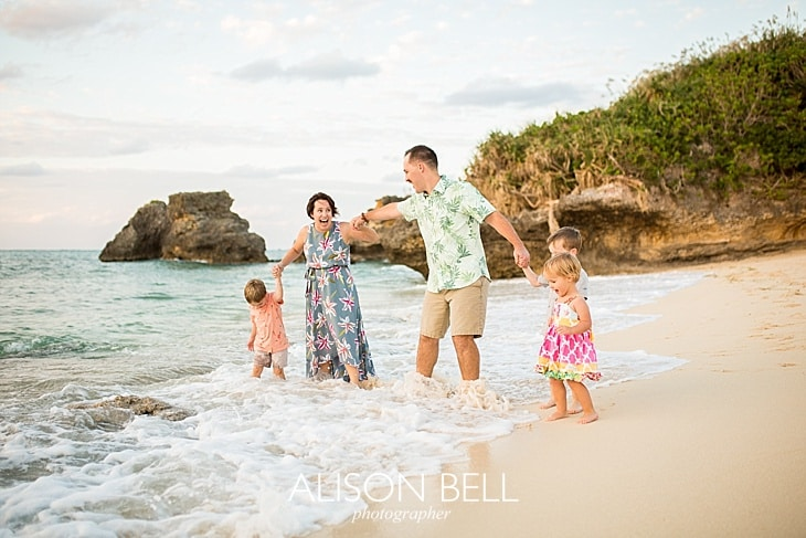 Family of 5, twin boys, beach photo session in Okinawa Japan by Alison Bell, Photographer