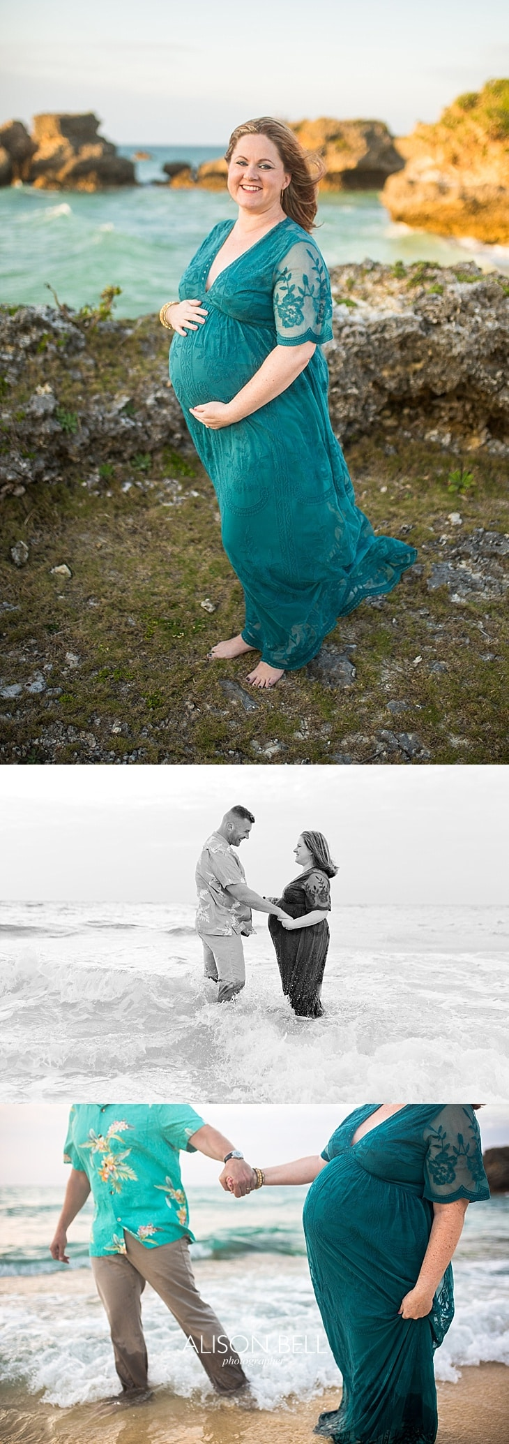 Beach maternity couples photography, okinawa Japan Alison Bell Photographer
