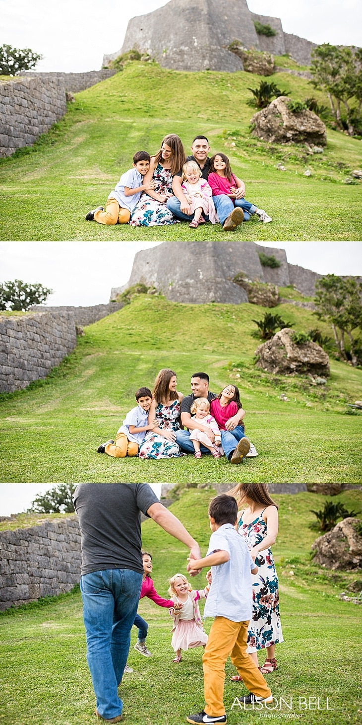 Family Half Priced Minis by Alison Bell, Photographer in Okinawa Japan at Katsuren Castle