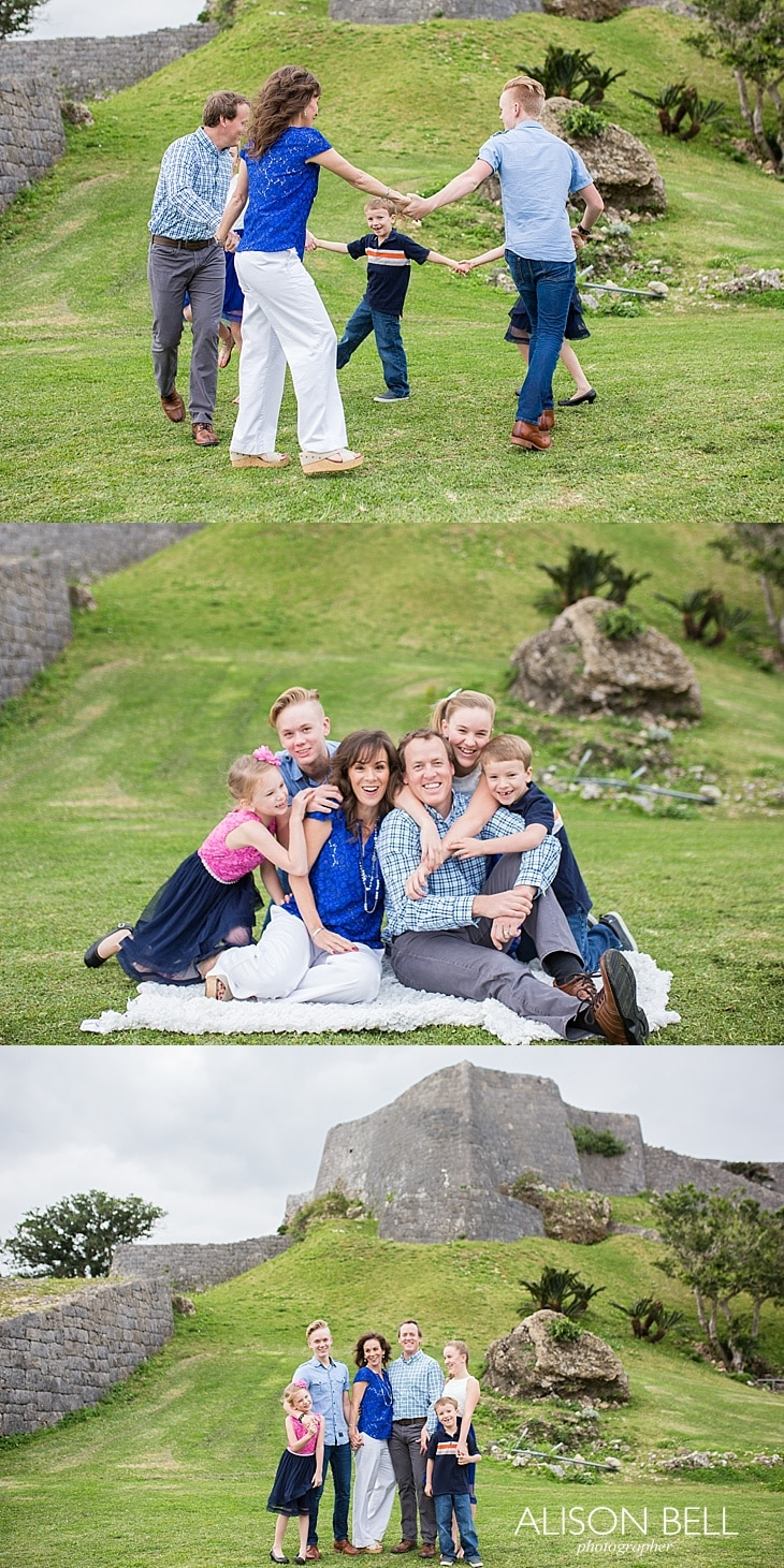 Large family half priced mini session by Alison Bell, Photographer in Okinawa, Japan