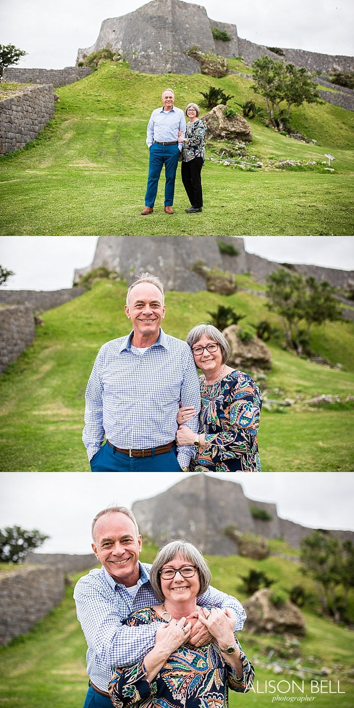 Mature couple half priced mini session by Alison Bell, Photographer in Okinawa Japan